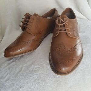 Asos Wide Fit Leather Brogues